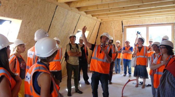 Visite de chantier pour les PRO du bois